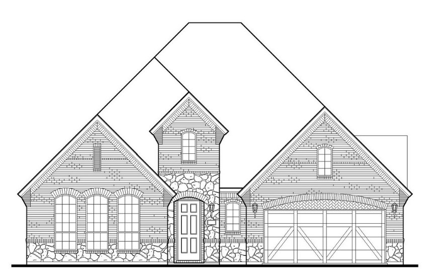 American Legend Plan 1631 Elevation A with Stone in TGF