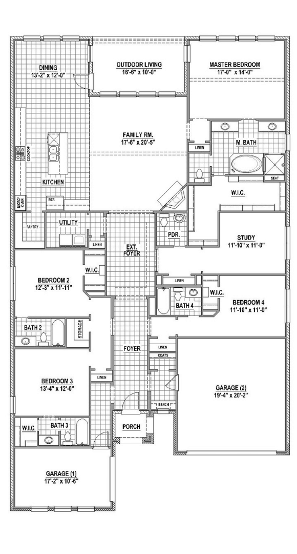 American Legend Plan 1631 First Floor in TGF