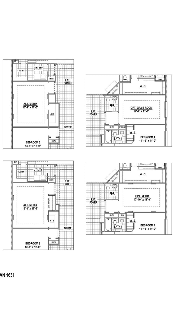 American Legend Plan 1631 First Floor Options in TGF