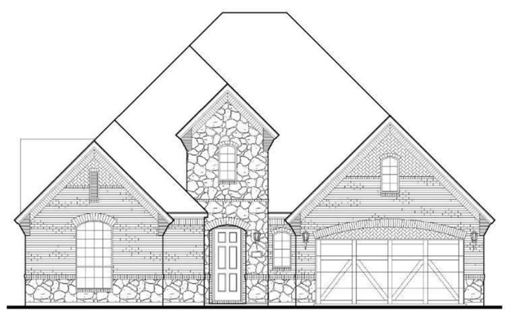 American Legend Plan 1630 Elevation A with Stone in TGF
