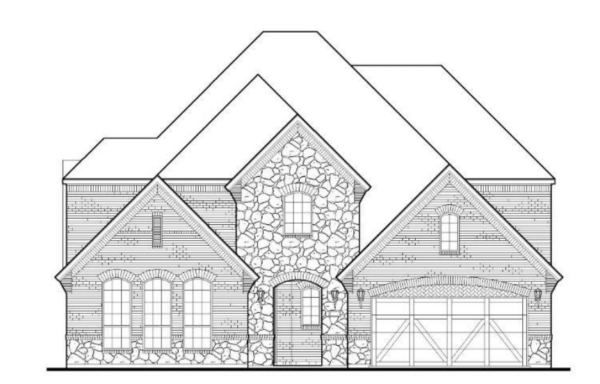 American Legend Plan 1634 Elevation A with Stone in TGF