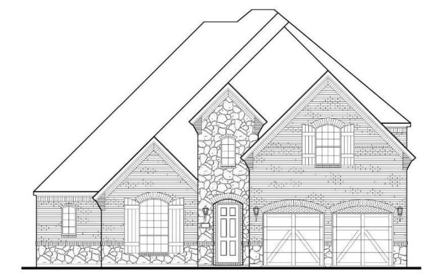 American Legend Plan 1632 A Stone in The Grove Frisco