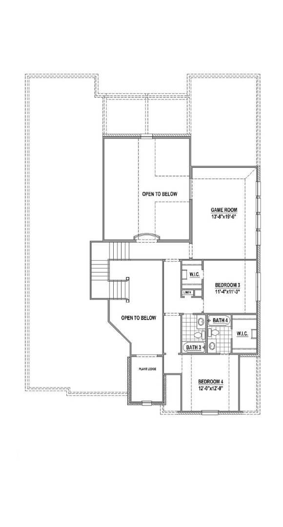 American Legend Plan 1632 2nd floor in The Grove Frisco
