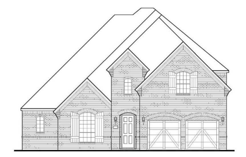 American Legend Plan 1632 Elevation A in the Grove Frisco