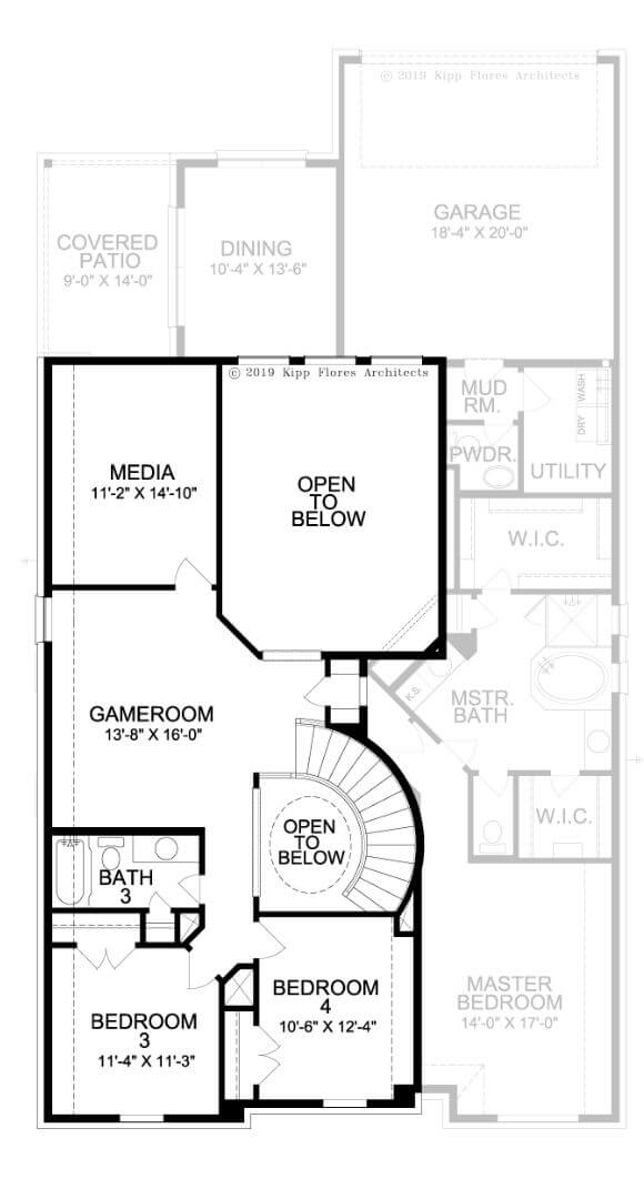 Landon Homes Plan 2164 Grove Second Floor in the Grove Frisco