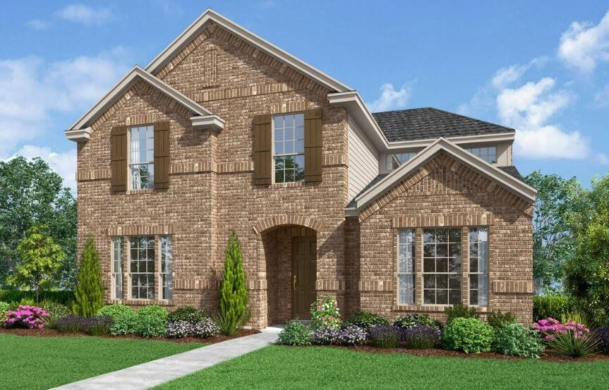 Landon Homes Plan 2165 Farmstead Elevation A Color in the Grove Frisco