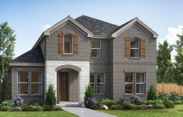 Landon Homes Plan 2118 Hillside Elevation A in the The Grove Frisco