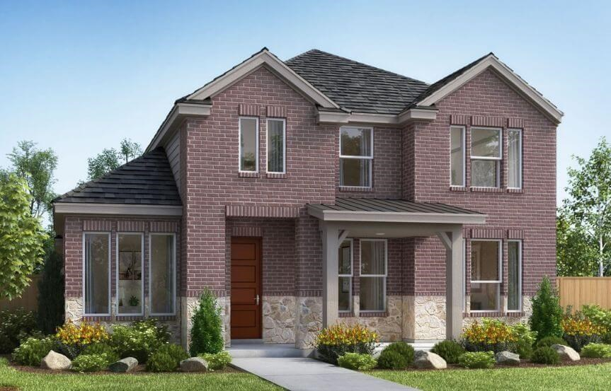 Landon Homes Plan 2118 Hillside Elevation B in the Grove Frisco