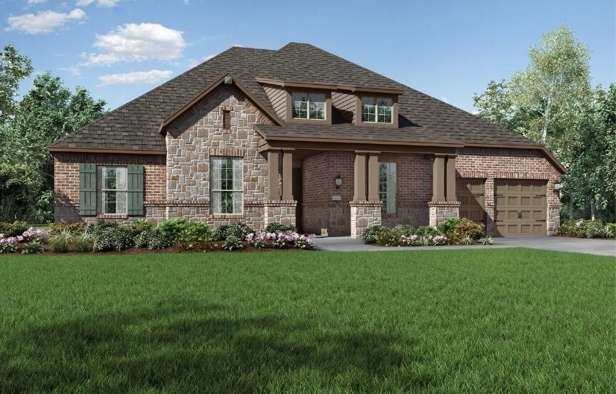 Highland Home Plan 271 Elevation C in the Grove Frisco