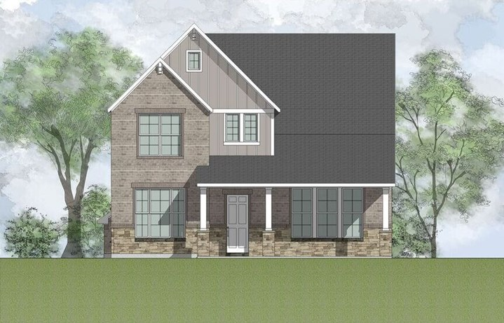 Drees Custom Homes Plan Marigold C in the Grove Frisco