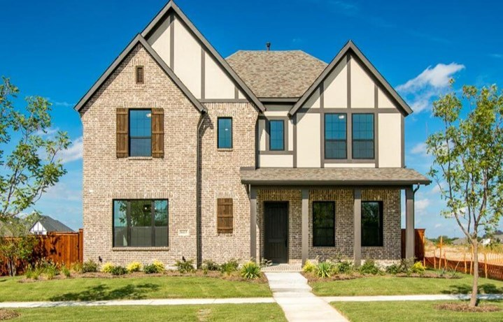 Drees Custom Homes 8415 Wild Rye Plan Violet Elevation C in The Grove Frisco