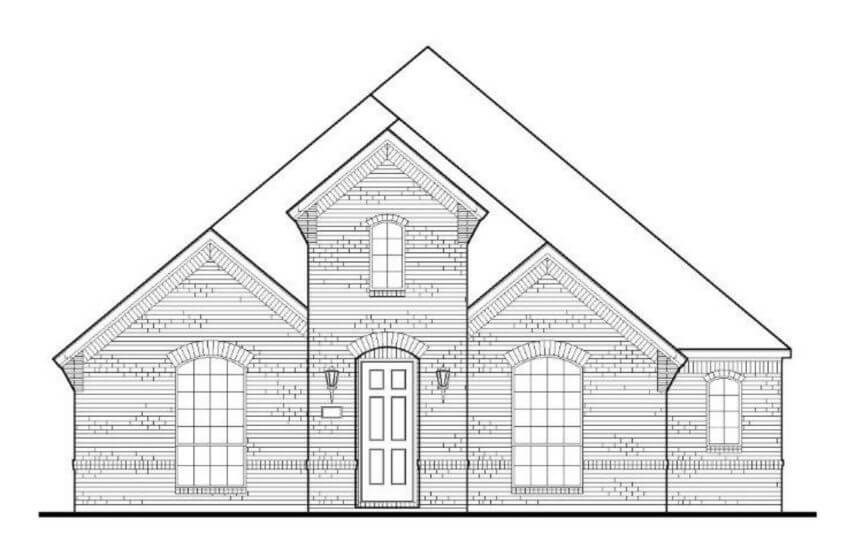 Elevation A Plan 1593 American Legend in the Grove Frisco