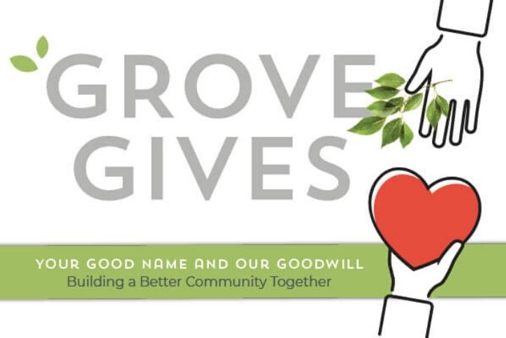 Grove Gives logo | The Grove Frisco
