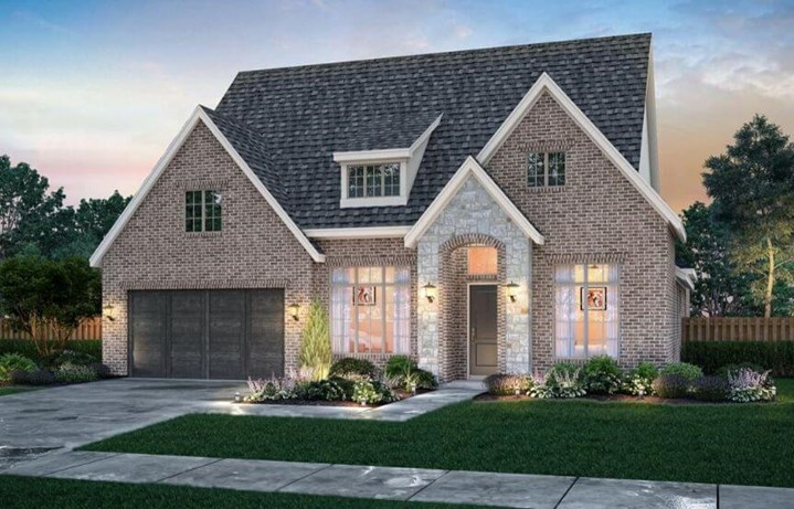 Elevation B Griffin ll Southgate Homes in The Grove Frisco