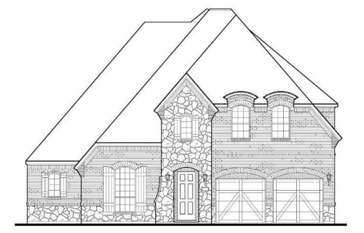 American Legend Plan 1632 Elevation C Stone in the Grove Frisco