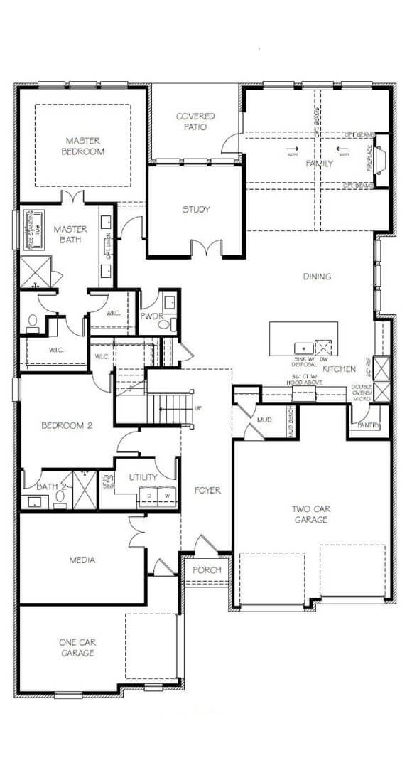 Southgate Homes Savannah Floorplan Level 1 in the Grove Frisco