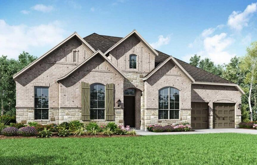 Highland Homes Plan 274 Elevation A in The Grove Frisco