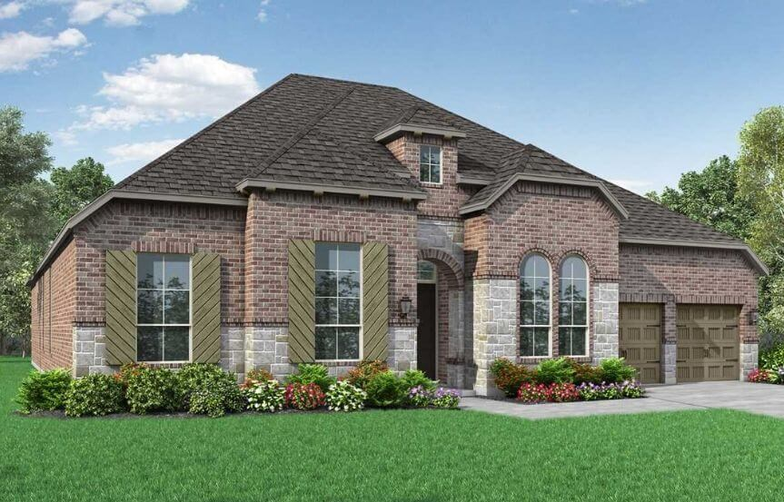 Highland Homes Plan 274 Elevation B in The Grove Frisco