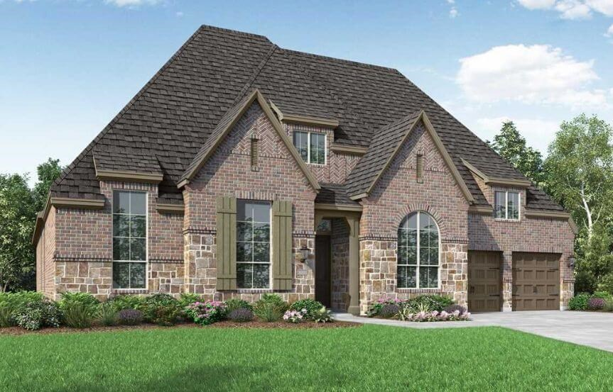 Highland Homes Plan 274 Elevation D in The Grove Frisco