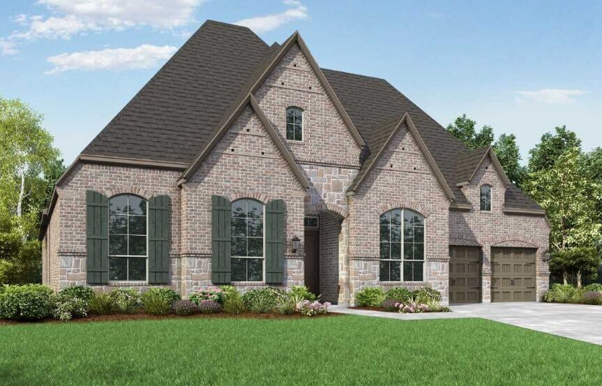 Highland Homes Plan 274 Elevation E in The Grove Frisco