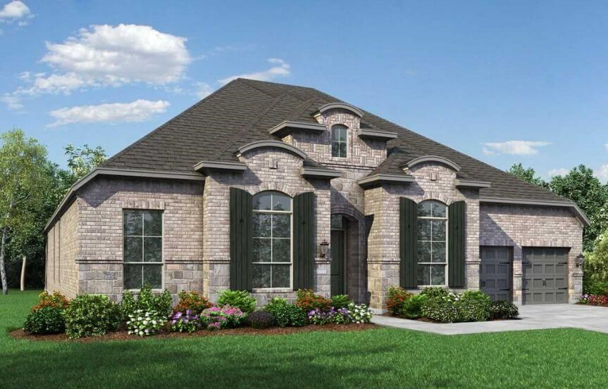 Highland Homes Plan 274 Elevation L in The Grove Frisco