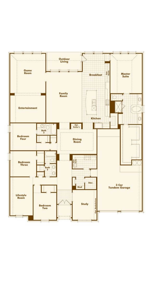 Highland Homes Plan 274 Floorplan in The Grove Frisco