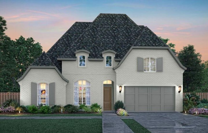 Southgate Homes Ashland Elevation B in The Grove Frisco