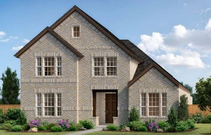 Garden 2163 Elevation B Landon Homes in The Grove Frisco