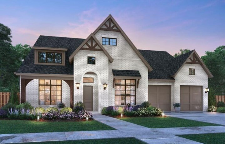 Jamestown Elevation B Southgate Homes in the Grove Frisco
