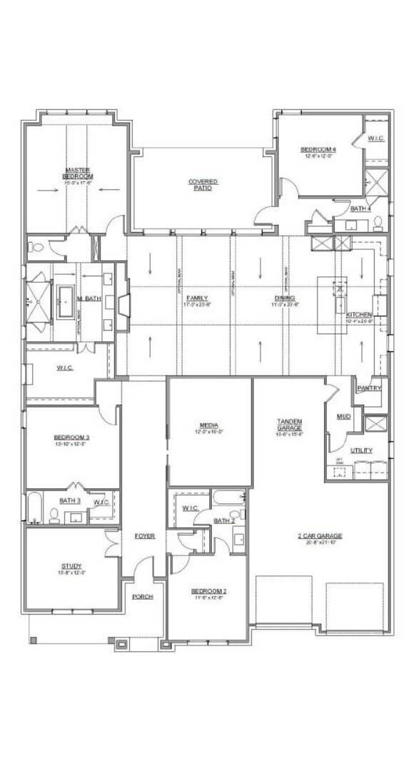 First Floor Jamestown Plan Southgate Homes The Grove Frisco