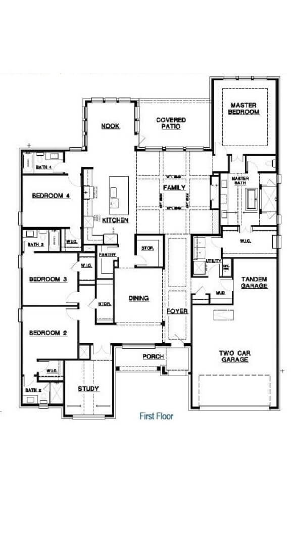First Floor Dylan Plan Southgate Homes The Grove Frisco
