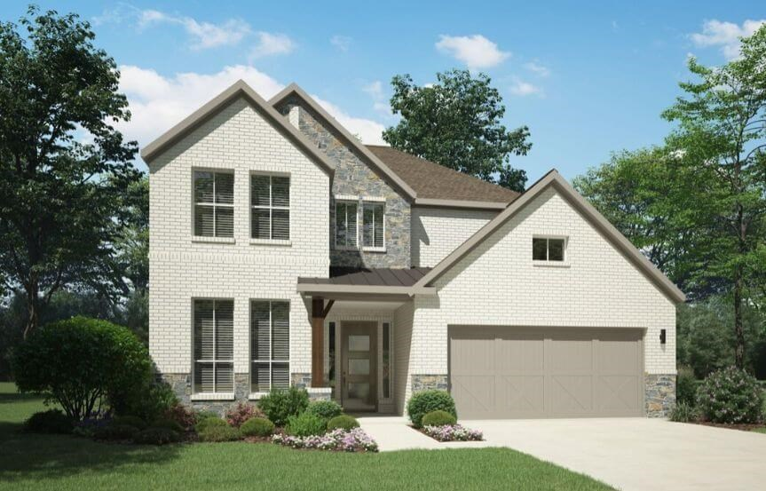 Elevation F 4185 Monet Plan Trophy Homes in the Grove Frisco