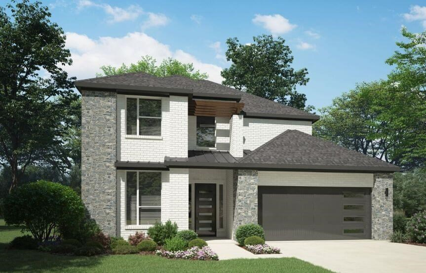 Elevation G 4185 Monet Plan Trophy Signature homes in the Grove Frisco