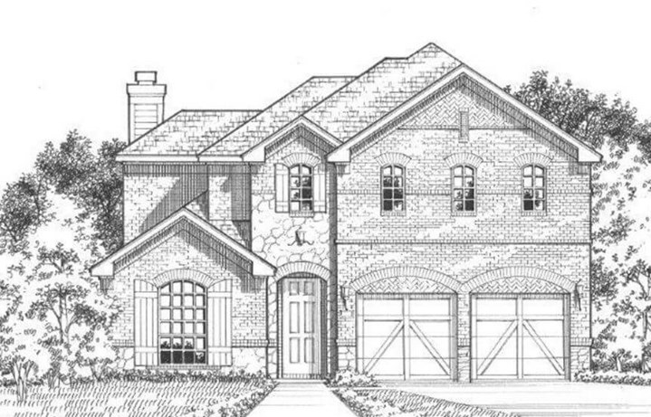 American Legend Plan 1504 Elevation A/Stone in The Grove Frisco