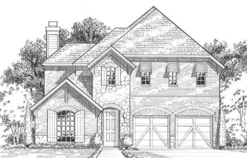 American Legend Plan 1504 Elevation C in The Grove Frisco
