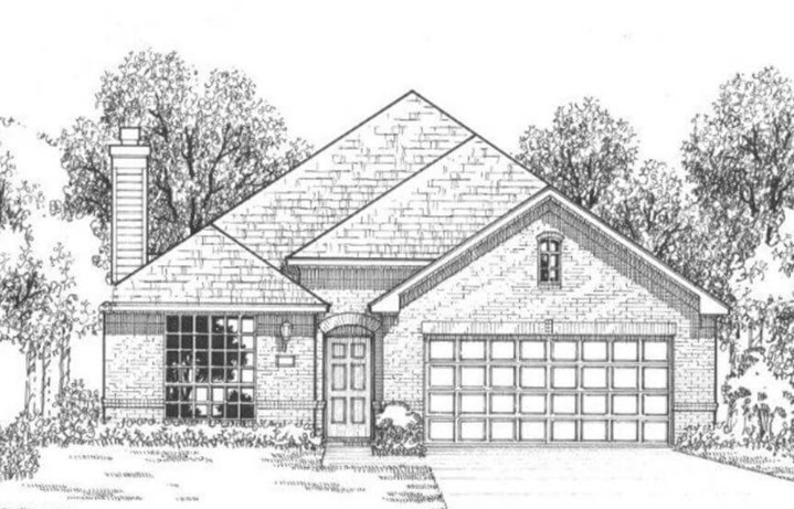 American Legend Plan 1120 Elevation A in The Grove Frisco