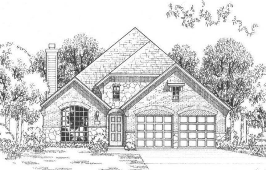 American Legend Plan 1120 Elevation C in The Grove Frisco