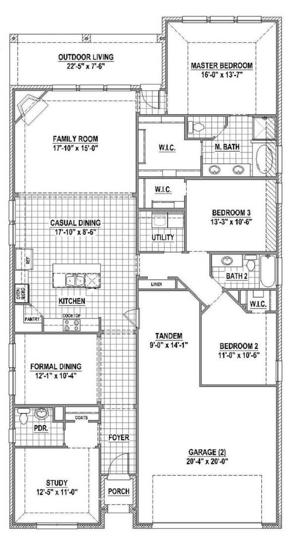American Legend Plan 1120 Floorplan in The Grove Frisco
