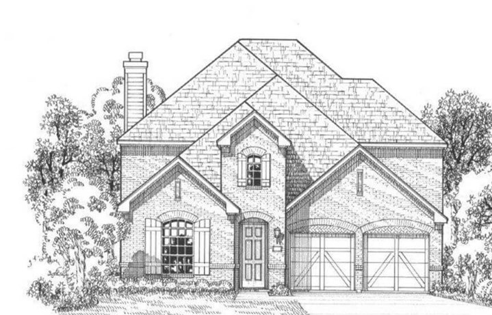 American Legend Plan 1509 Elevation A in The Grove Frisco