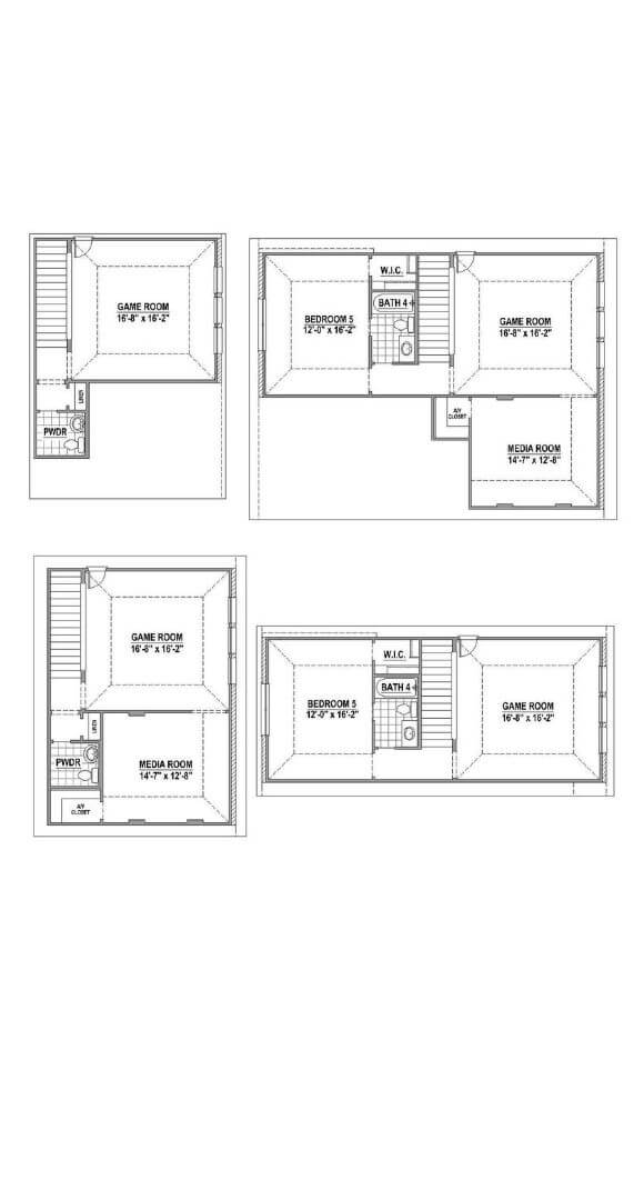 American Legend 1152 Floorplan Options 2 in The Grove Frisco