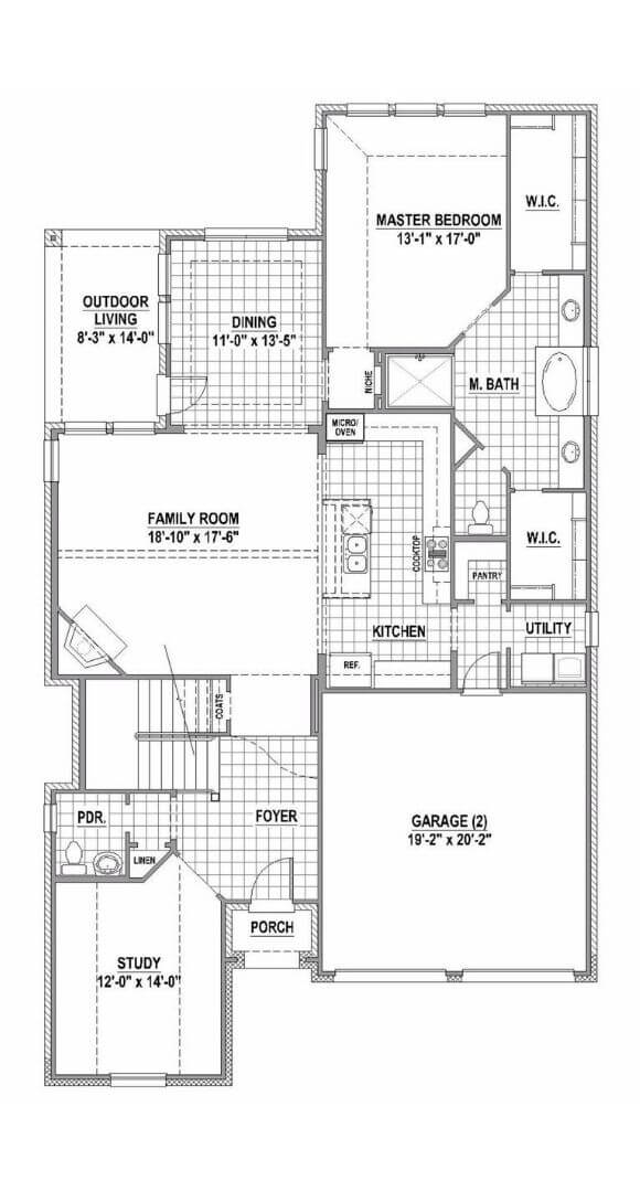 American Legend Floorplan 1504 Level One in The Grove Frisco