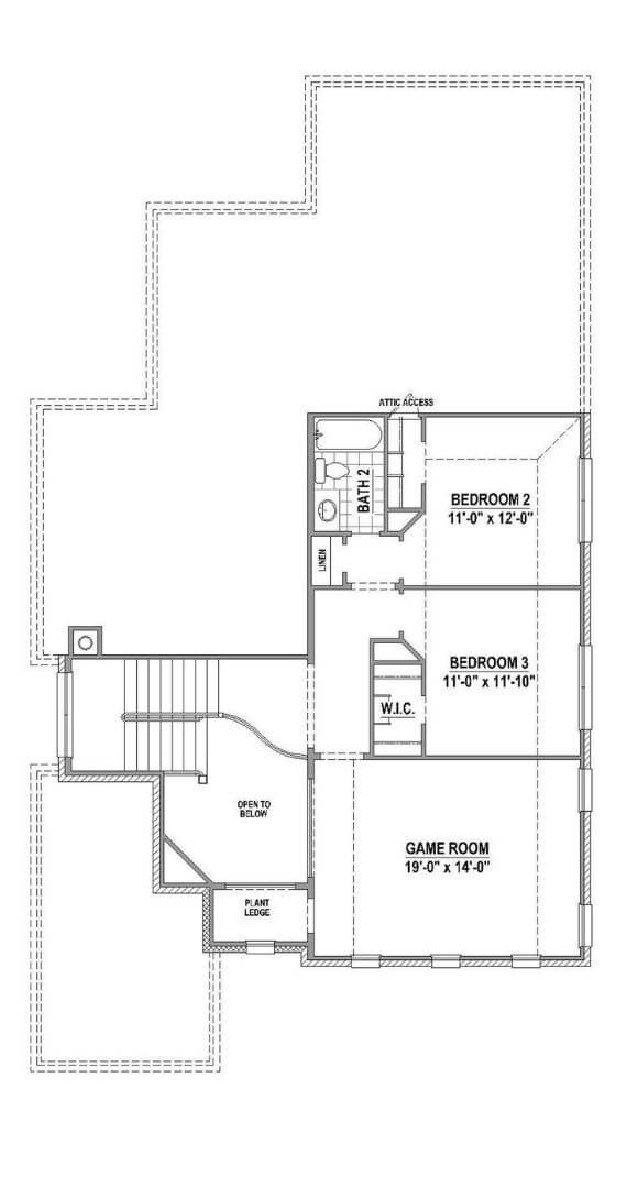 American Legend Floorplan 1504 Level Two in The Grove Frisco