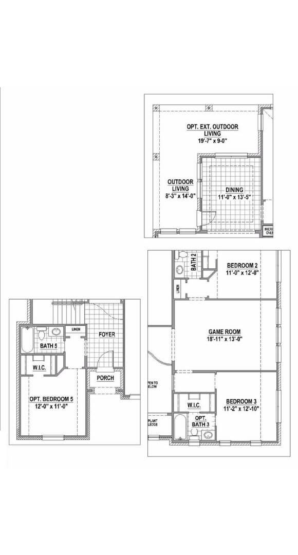 American Legend Floorplan 1504 Options One in The Grove Frisco