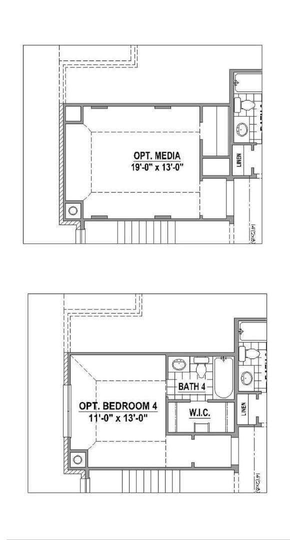 American Legend Floorplan 1504 Option Two in The Grove Frisco