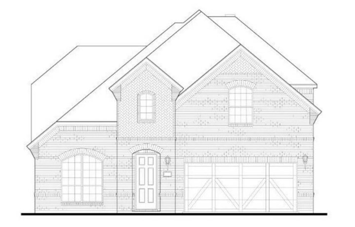 American Legend Plan 1155 Elevation A in The Grove Frisco