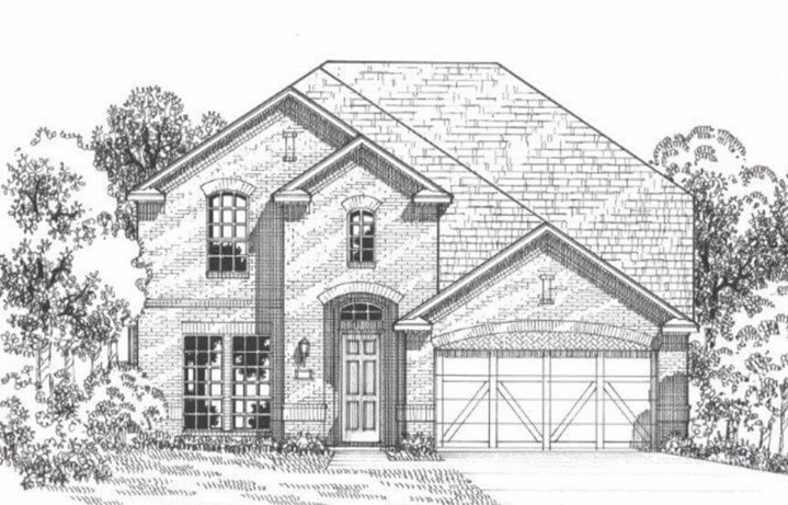 American Legend Plan 115 Elevation A in The Grove Frisco
