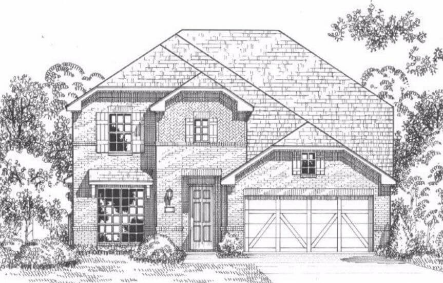 American Legend Plan 115 Elevation B in The Grove Frisco