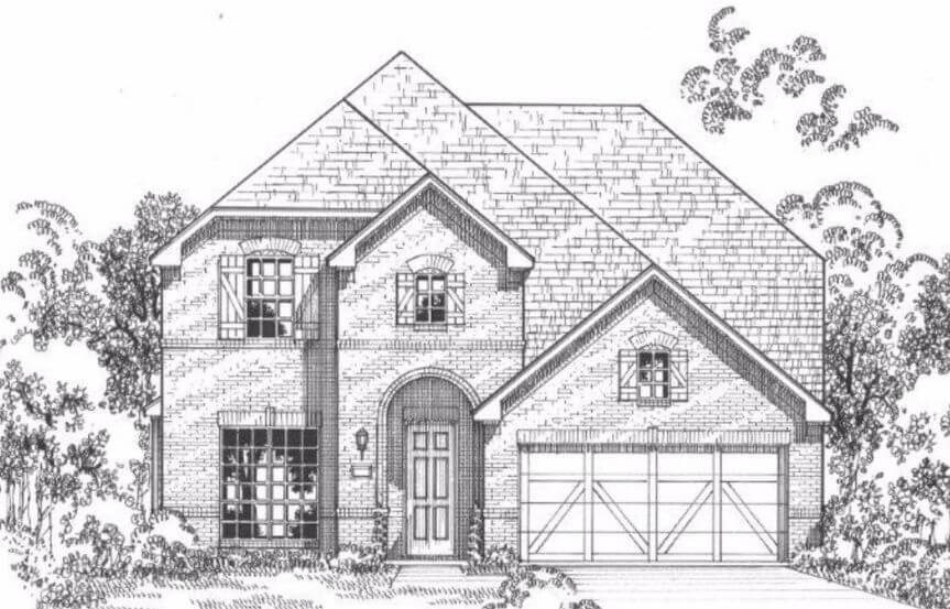 American Legend Plan 115 Elevation E in The Grove Frisco