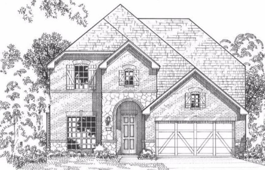 American Legend Plan 115 Elevation E With Stone in The Grove Frisco