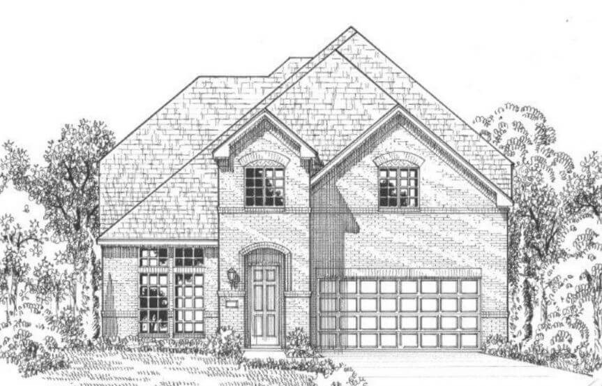 American Legend Plan 116 Elevation A in The Grove Frisco